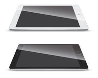 Tablet pc side view  on white background. Stock Photos