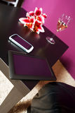 Tablet pc and smart phone on desk Royalty Free Stock Images