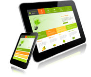 Tablet PC and Smart Phone Stock Photography