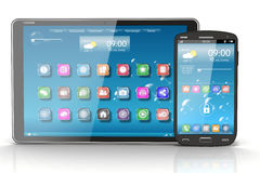 Tablet PC and Smartphone. Concept Royalty Free Stock Images