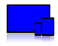 Tablet pc and smartphones Royalty Free Stock Photos