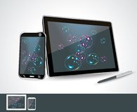 Tablet pc and smartphones. Stock Images