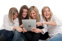Tablet-PC-Spaß Lizenzfreie Stockbilder