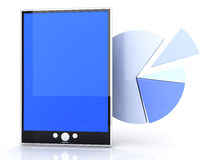 Tablet PC Statistics Stock Photo