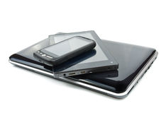 Tablet PC and touch screen phone Royalty Free Stock Photo