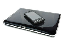 Tablet PC and touch screen phone Royalty Free Stock Photography