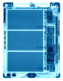 Tablet PC under the X-rays Royalty Free Stock Image