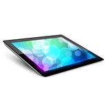 Tablet pc. Variant without hand. White background Royalty Free Stock Photo
