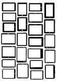 Tablet PC Vector Collection in Black Royalty Free Stock Photography
