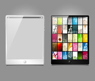 Tablet pc, vector model Royalty Free Stock Images