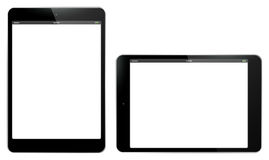 Tablet PC Vertical and Horizontal Vector Illustration. Royalty Free Stock Image
