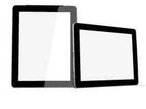 Tablet PC vertikal and horizontal Royalty Free Stock Photography