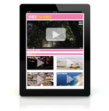 Tablet pc video streaming Stock Images