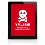 Tablet pc virus Royalty Free Stock Photo