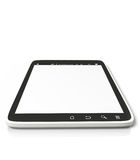 Tablet PC on a white background Royalty Free Stock Photography