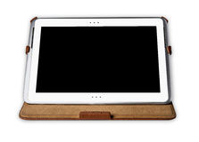 Tablet pc on white background. The tablet pc on white background Royalty Free Stock Photos