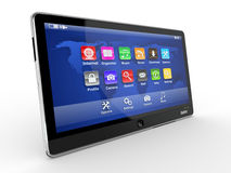 Tablet pc on white background. 3d Stock Photography