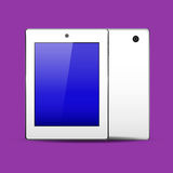 Tablet pc white. Color front and back. EPS 10. Vector illustration Stock Images