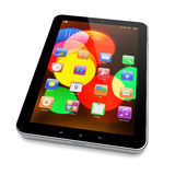 Tablet PC on white Royalty Free Stock Photography
