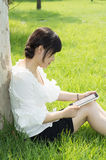 Tablet PC a woman Stock Photography