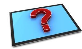 Tablet PC y signo de interrogación libre illustration