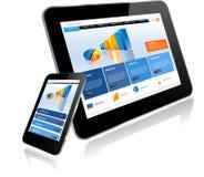 Tablet PC y teléfono elegante