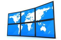 Tablet PC y tierra, icono aislado en el fondo blanco ilustración del vector