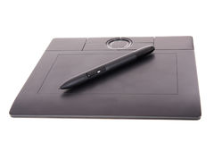Tablet with pen Stock Photos