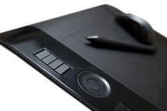 Tablet pen and mouse Royalty Free Stock Photo