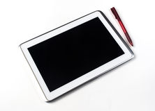 Tablet and Pen Royalty Free Stock Photography