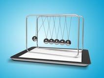 Tablet and pendulum Stock Photos