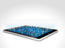 Tablet with people Royalty Free Stock Photo