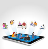 Tablet with people Royalty Free Stock Image