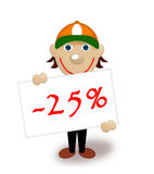 Tablet with percents, discount, maniki Stock Photos
