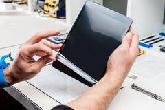 Tablet, peulreparatie Stock Fotografie