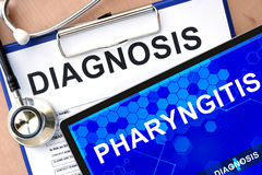 Tablet with pharyngitis Royalty Free Stock Photo
