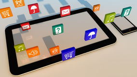 Tablet and phone Royalty Free Stock Photography