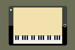 Tablet piano Stock Photo
