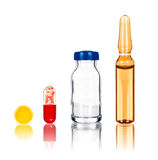Tablet, pill vial Royalty Free Stock Image
