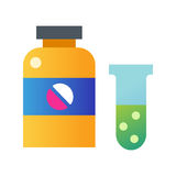 Tablet pills bottle vector illustration. Royalty Free Stock Photo