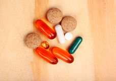 Tablet and pills Stock Photos