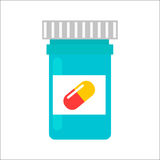 Tablet pills tube vector illustration. Stock Image