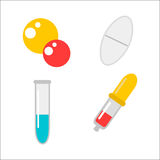 Tablet pills vector illustration. Stock Image