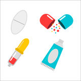 Tablet pills vector illustration. Royalty Free Stock Photos