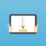 Tablet play game Royalty Free Stock Photos