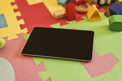 Tablet on Playground Stock Photos