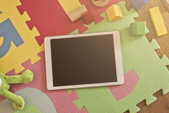Tablet on Playground Royalty Free Stock Photography