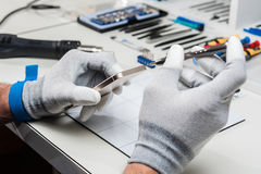 Tablet, pod repair Royalty Free Stock Images