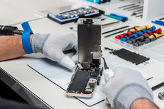 Tablet, pod repair Royalty Free Stock Photography