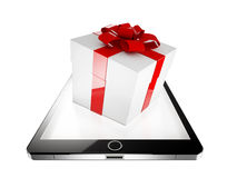 Tablet present Stock Photography